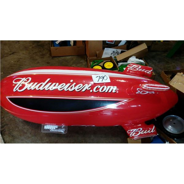 Budweiser Airship Inflatable Blimp, Approx. 5 ft