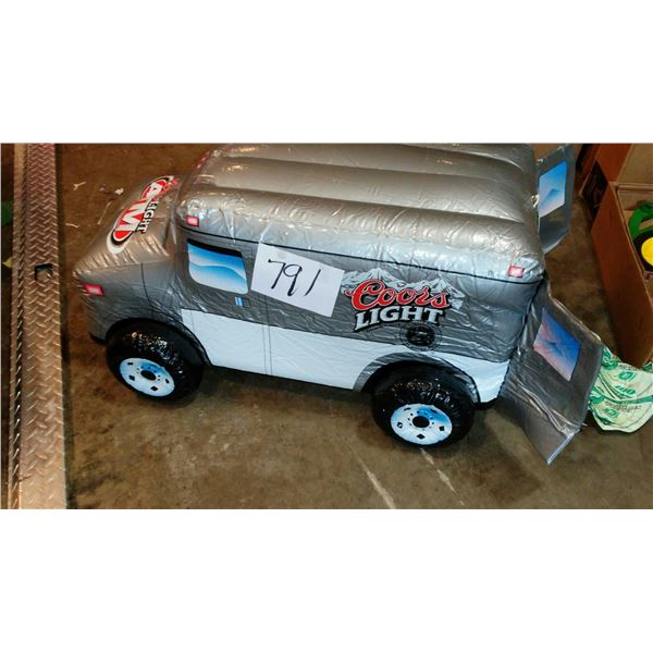 """Coors Light ATM Inflatable Armored Transport Truck, Approx. 36"""""""