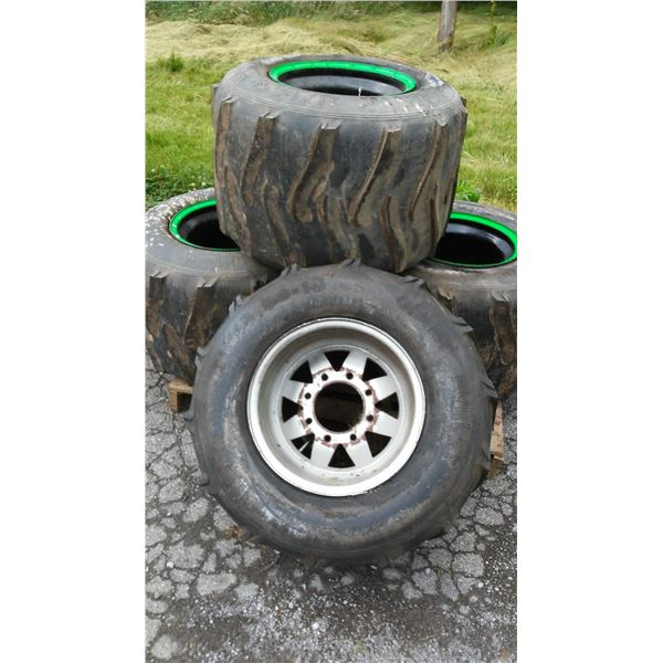 Giant Puller Tires and Rims 31 x 15.50-15 (4) / AKA LOT 505B