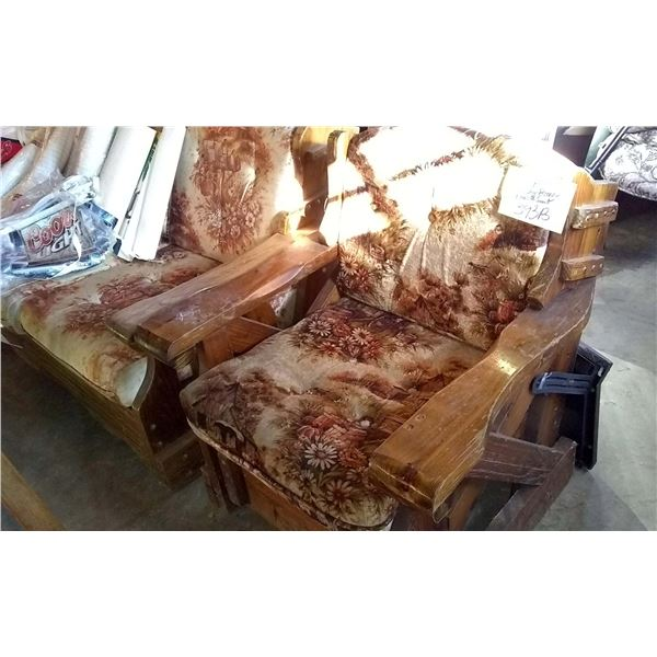Vintage Ranch Style Couch & Chair