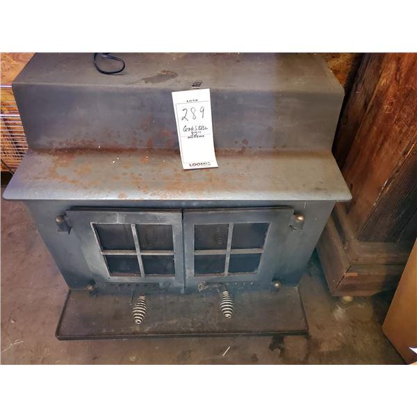 "2 Door Wood Burning Iron Stove, 32"" / condition good"