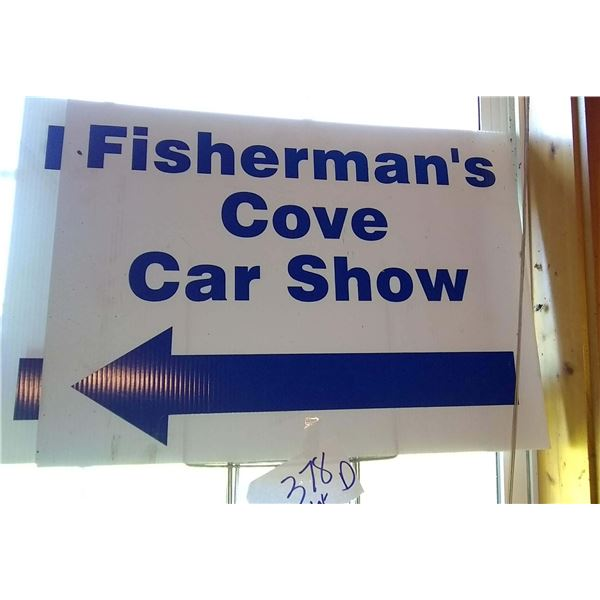 Set of 4 Fishermans Cove Car Show Signs