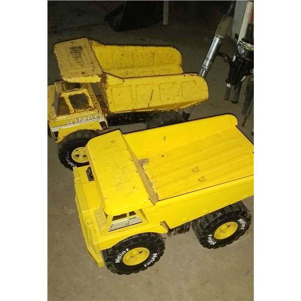 Vintage Construction Trucks/ Set of 2