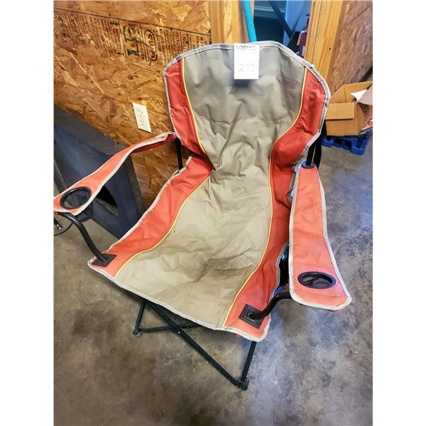 Coleman Camp Chair w/ Drink Holders, Heavy Polyester/Steel Frame