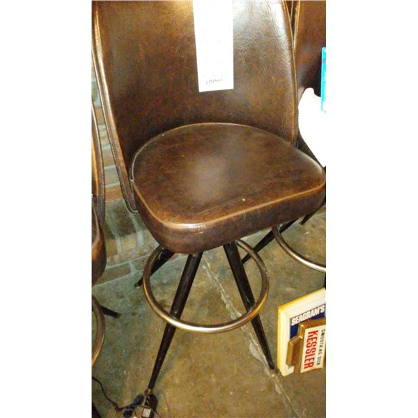 """31"""" Swivel Bar/Counter Stool with Brown Vinyl, High Back Bucket Seat (2)"""