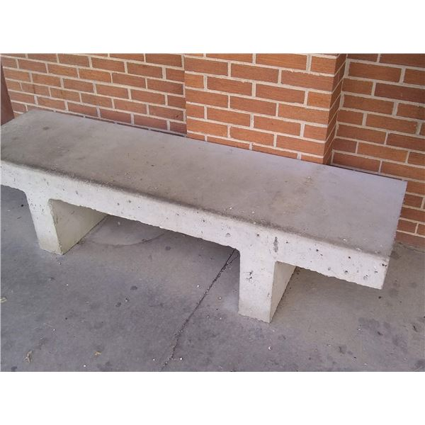 Classic Concrete Park Bench / AKA LOT 901A