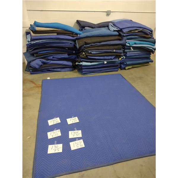 LIKE NEW STANDARD SIZE QUILTED FURNITURE MOVING PADS (x5)