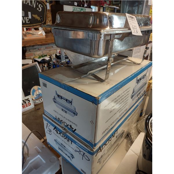 New Adcraft Stackable Full Sized Chafers (3)