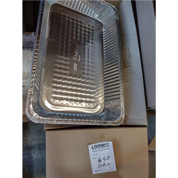 50 PC Aluminum Foil Barbecue/ Baking Pans