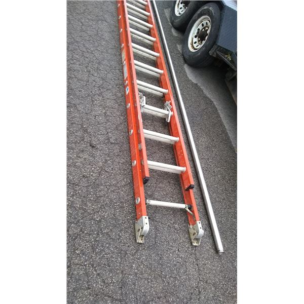 Werner Fiberglass Extension Ladder, 20+ Ft