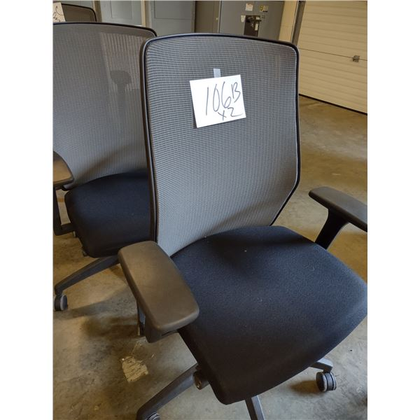 LIKE-NEW HIGH BACK OFFICE CHAIRS (x2)