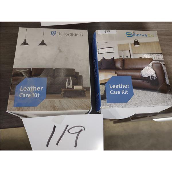 2 LEATHER CARE KITS, ULTRASHEILD & SERVECO