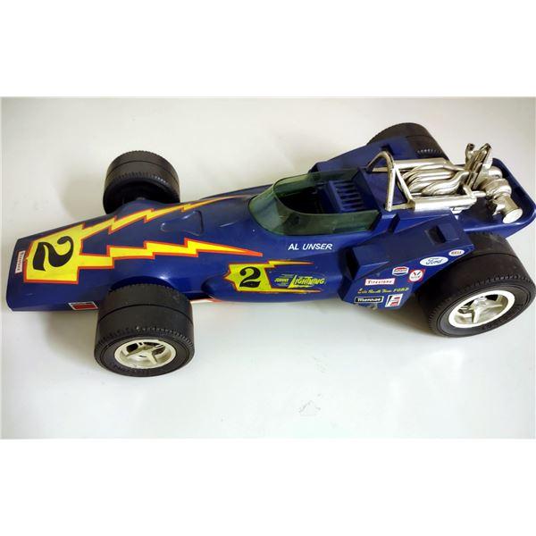 Vintage Al Unser Formula 1 Toy Race Car, No. 2 Johnny Lightning