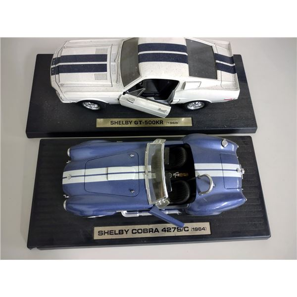 Pair of 1960s Shelby 1:18 Scale Diecast Model Cars