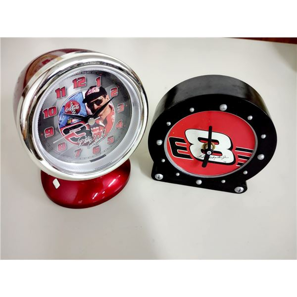 Pair of Dale Earnhardt Jr. & Sr. Battery Powered Alarm Clocks