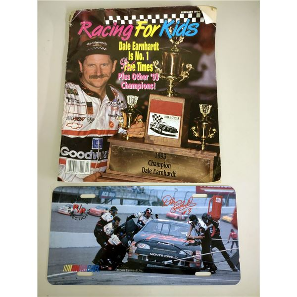 Dale Earnhardt License Plate, Racing For Kids Magazine February 1994 Issue Dale Earnhardt Cover