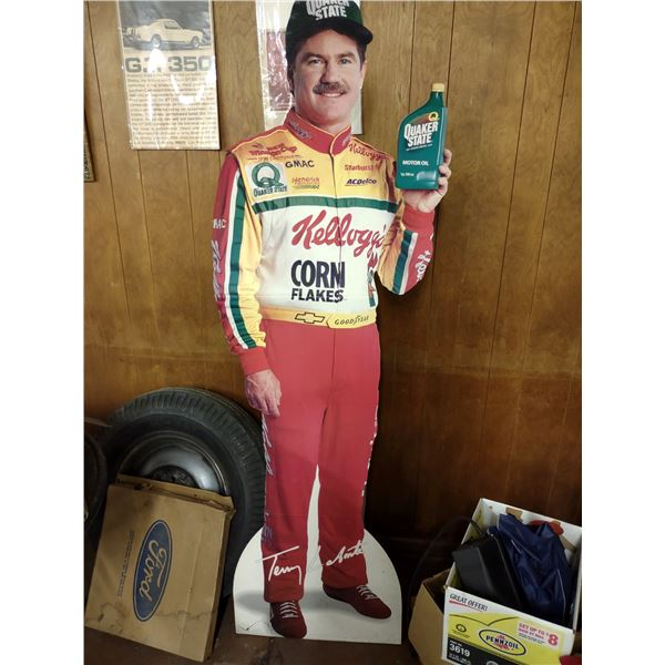 Terry Labonte Life Size Cardboard Standee, Quaker State Motor Oil