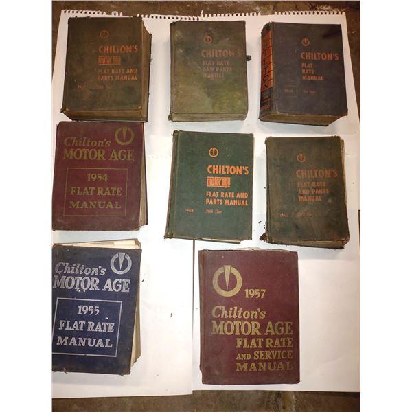 8 PC Antique Chilton's Motor Age Manual Lot
