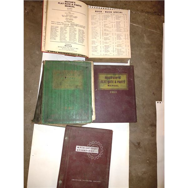 1941 Motor's Factory Flat Rate & Shop Manual & Others Lot