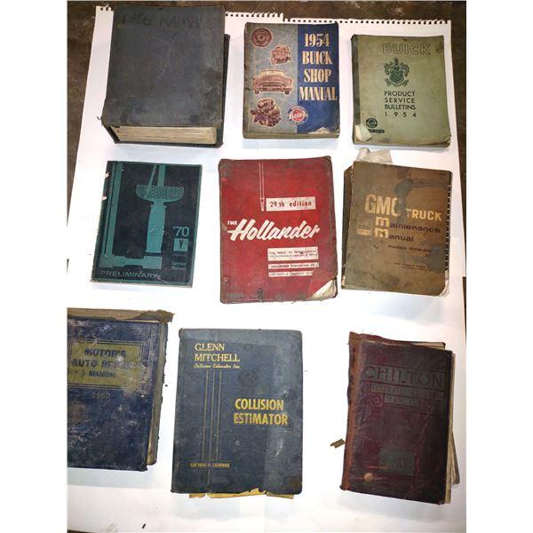 9 PC Assorted Antique Manuals Lot