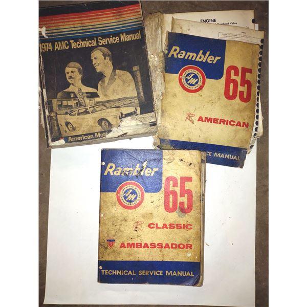 1974 AMC & 165 Rambler Antique Manuals, 3 PC Lot