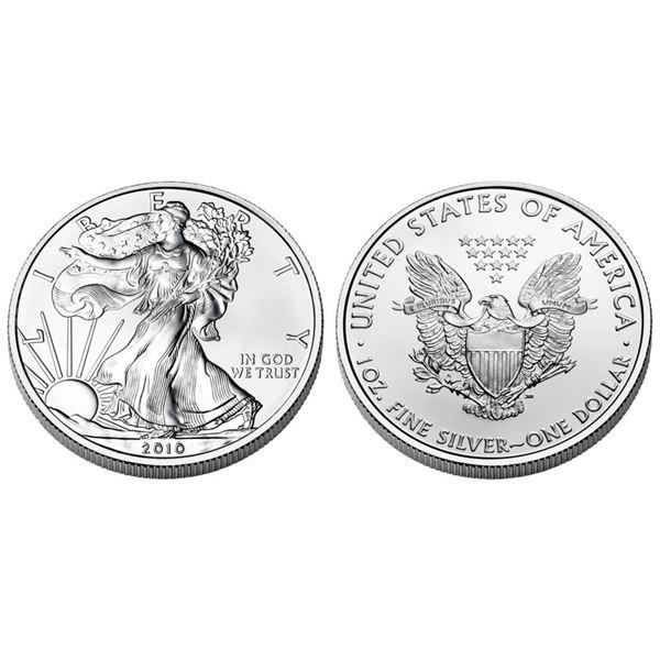 2010 American Silver Eagle .999 Fine Silver Dollar Coin