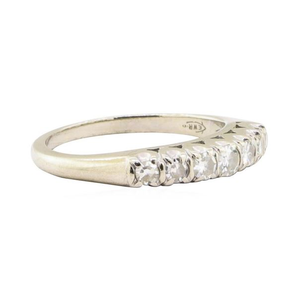 0.38 ctw Diamond Designer (M)ountain Motif Ring - 14KT White Gold