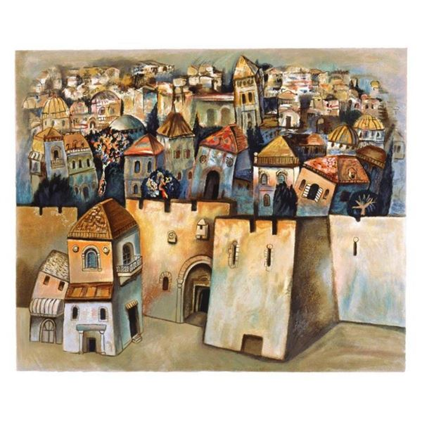 "Gregory Kohelet, ""Jerusalem"" Hand Signed Limited Edition Serigraph with Letter o"