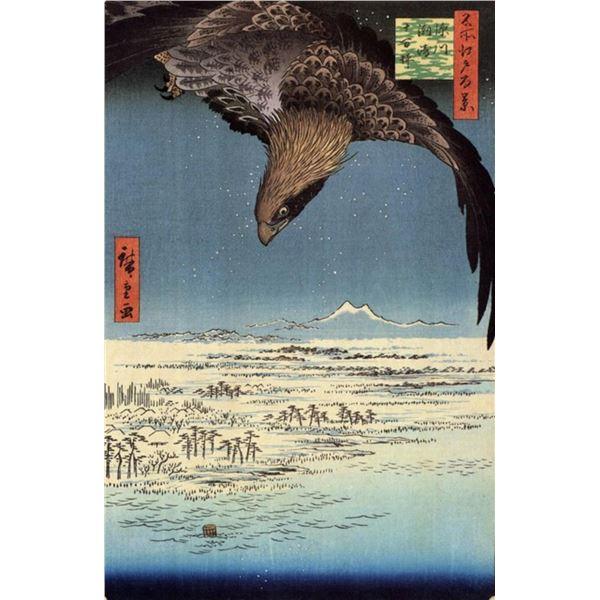 Hiroshige Eagle over the Lowlands Near Susaki