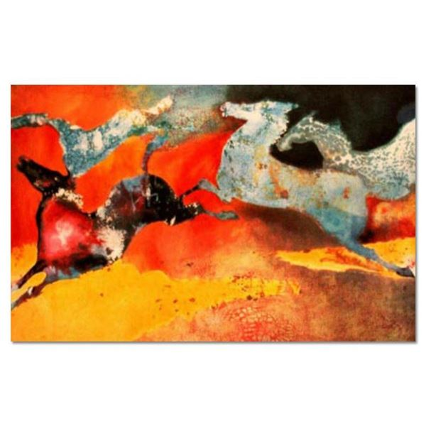 "Edwin Salomon, ""Summer Dance"" Hand Signed Limited Edition Serigraph with Letter"