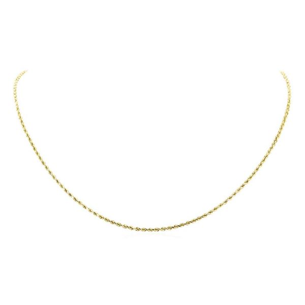Twenty Inch Rope Chain - 14KT Yellow Gold