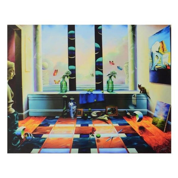 """Ferjo, """"Mystic View"""" Limited Edition on Canvas, Numbered and Signed with Letter"""
