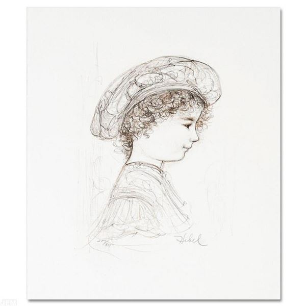 """""""Ove"""" Limited Edition Lithograph by Edna Hibel (1917-2014), Numbered and Hand Si"""