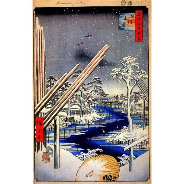 Hiroshige Fukagawa Lumberyards