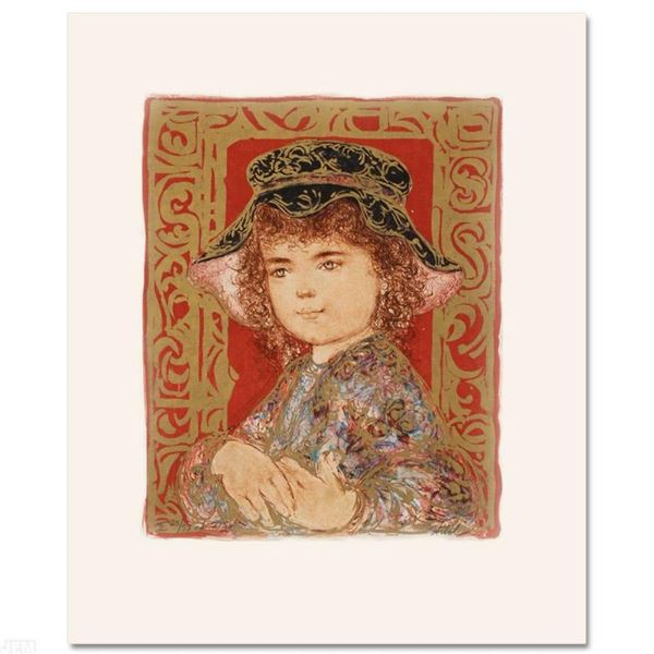 """""""Athena"""" Limited Edition Lithograph by Edna Hibel, Numbered and Hand Signed with"""