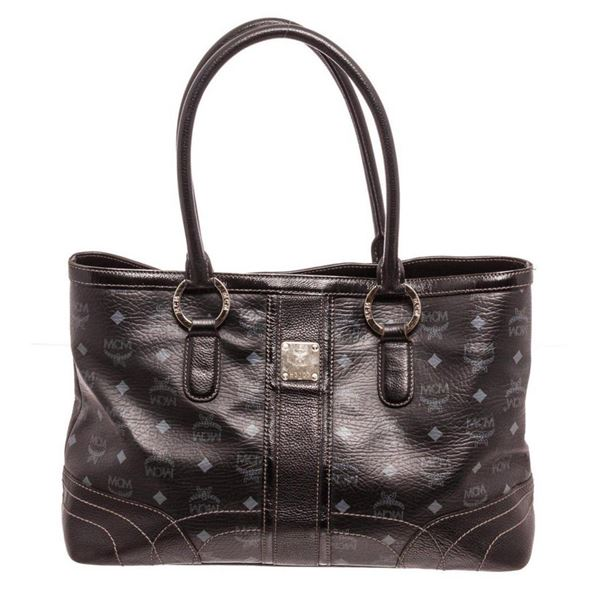 MCM Black Shopper Tote Bag