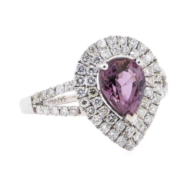 2.05 ctw Pink Sapphire and Diamond Ring - Platinum