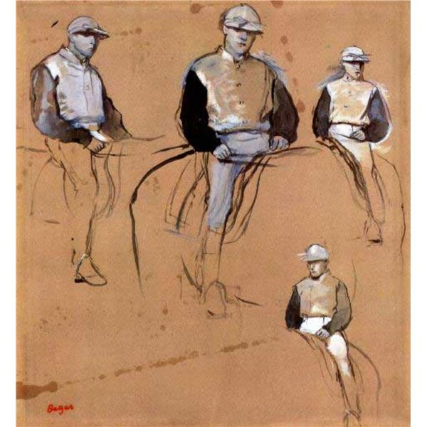 Edgar Degas - Study With Four Jockeys