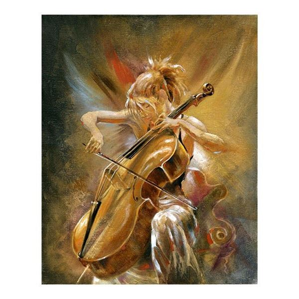 "Lena Sotskova, ""Angel"" Hand Signed, Artist Embellished Limited Edition Giclee on"