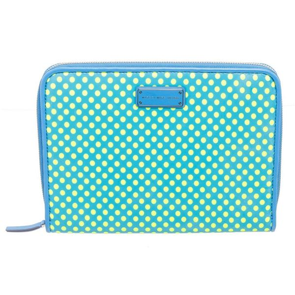Marc By Marc Jacobs Blue  Yellow Leather Dot Tablet Case