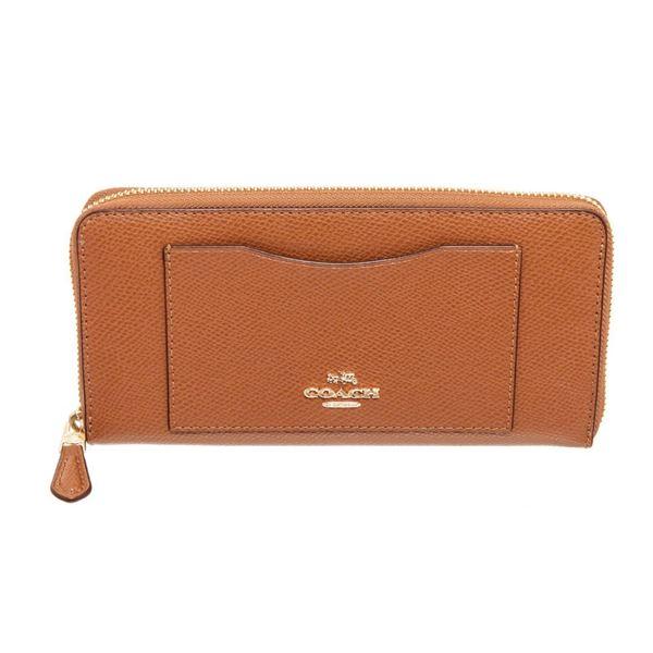 Coach Tan Leather Long Zippy Wallet
