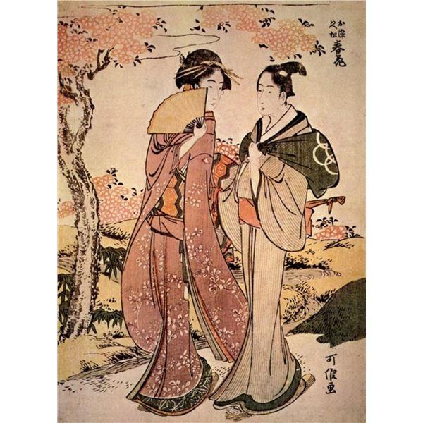 Hokusai - Two Women