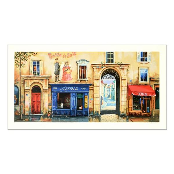 """Alexander Borewko, """"Bar Astrid"""" Limited Edition Serigraph, Numbered and Hand Sig"""