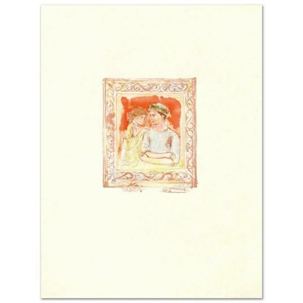 """""""Romance"""" Limited Edition Lithograph by Edna Hibel (1917-2014), Numbered and Han"""