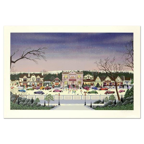 """Nobuo Watanabe, """"Christmas In Cambria"""" Limited Edition Serigraph, Numbered and H"""
