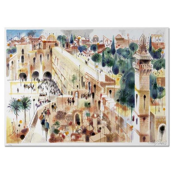 "Shmuel Katz (1926-2010), ""Jerusalem"" Hand Signed Limited Edition Serigraph with"