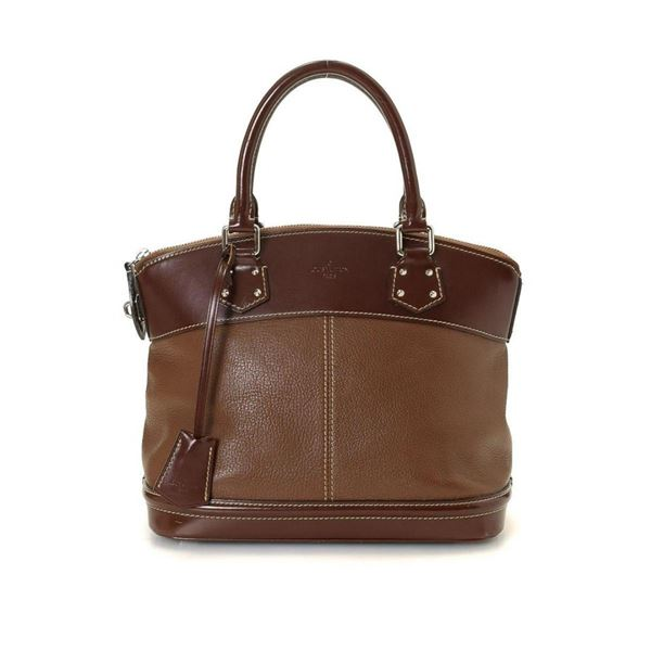 Louis Vuitton Brown Leather Lockit PM Handbag
