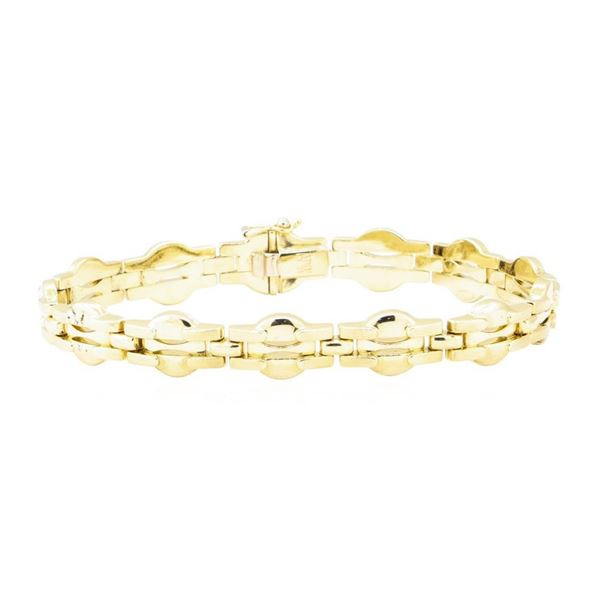 Italian Fancy Link Bracelet - 14KT Yellow Gold
