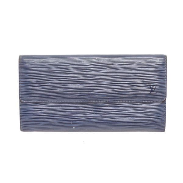 Louis Vuitton Blue Epi Leather - 2 Card Sarah Wallet
