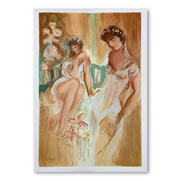 """Batia Magal, """"Sister"""" Hand Signed Limited Edition Serigraph on Paper with Letter"""